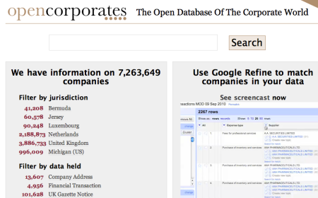 OpenCorporates :: The Open Database Of The Corporate World