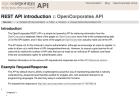 OpenCorporates API screengrab