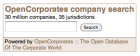 OpenCorporates demonstration widget