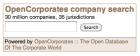 OpenCorporates demonstration widget