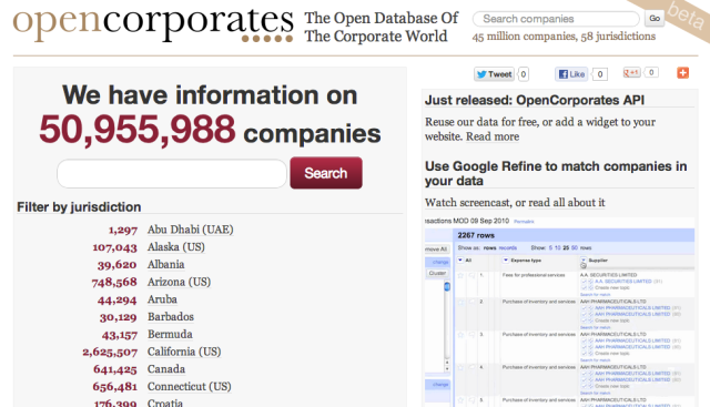 OpenCorporates breaks the 50 million company mark